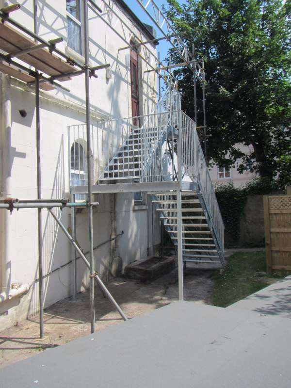 Galvanised nursing home fire escape